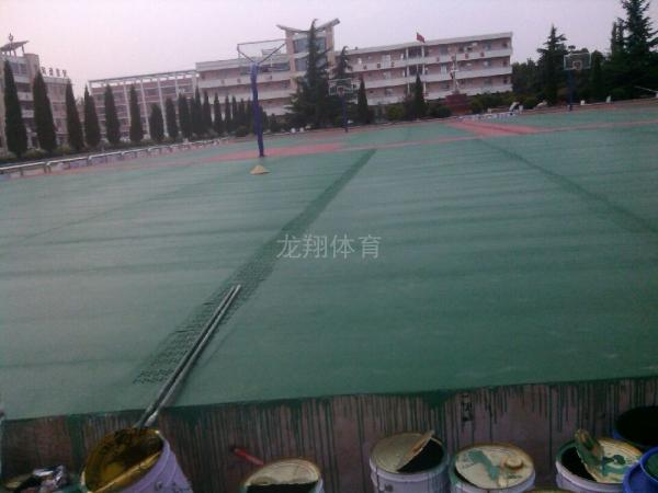 贵州省安顺市幺铺中学硅pu篮球场项目完工